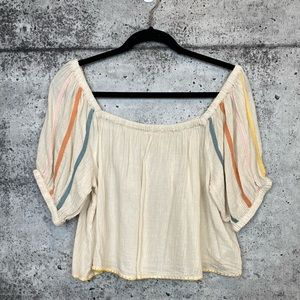 Urban Outfitters // Cotton Off The Shoulder Top